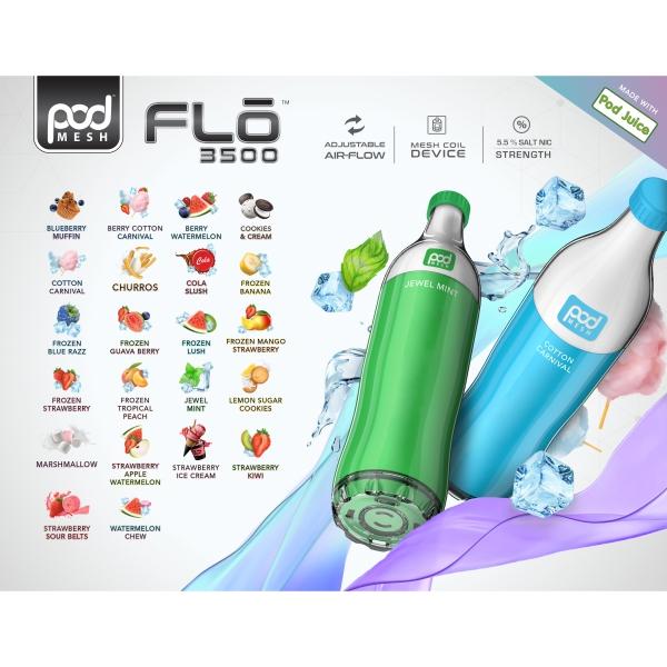 Pod FLO 3500 Disposable 5.5% by Pod Juice Adjustable Airflow