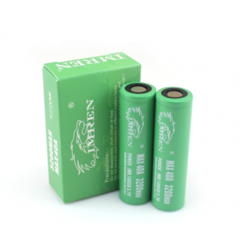 IMREN 18650 3200mAh 40A Batteries (2 pack)