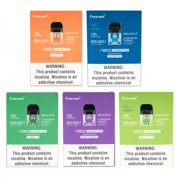 Freecool NOVO 2 (N800 by Smok) Pre-Filled Flavored Pods - 3 Pack