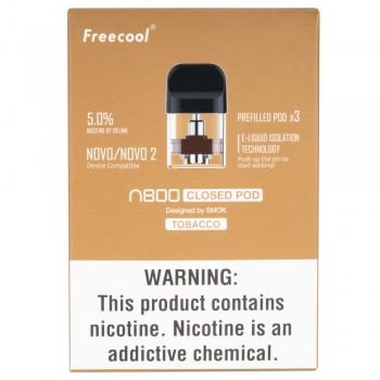 Freecool NOVO 2 (N800 by Smok) Pre-Filled Tobacco Pods - 3 Pack
