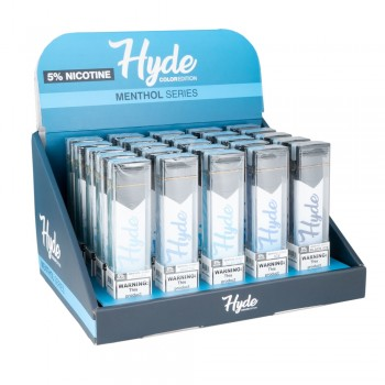Hyde Color Menthol Series 25CT Display