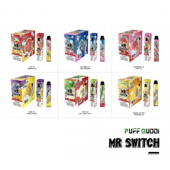 Puff Buddi Mr. Switch Disposable (DUAL FLAVORS w/ 2200 PUFFS)