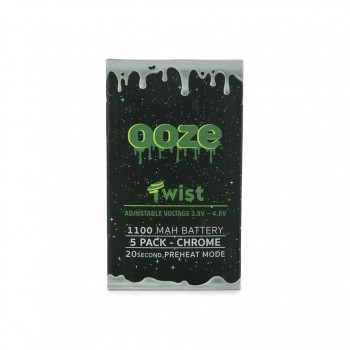 OOZE Twist 5pk 1100mAh Batteries