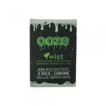 OOZE Twist 5pk 650mAh Batteries