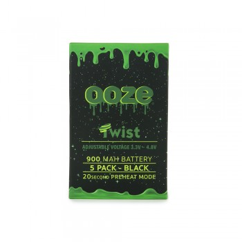OOZE Twist 5pk 900mAh Batteries