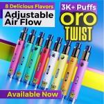 ORO Twist Tank Disposable 5% Adjustable Airflow