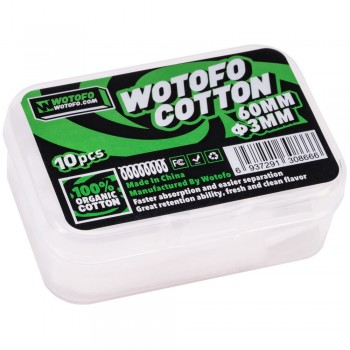 WOTOFO Agleted Organic 10pc Cotton 3mm
