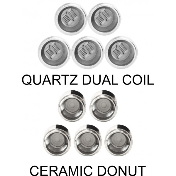 Yocan Evolve Plus Coil Quartz and ceramic donut 5 Pack